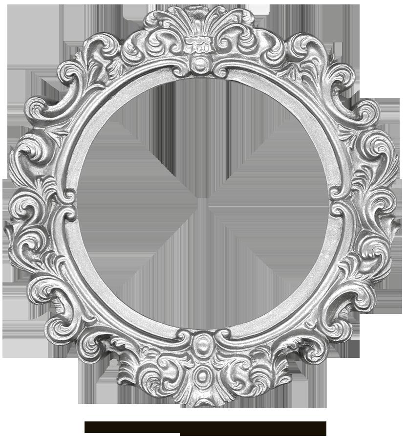 Circle clipart retro. Vintage silver frame round