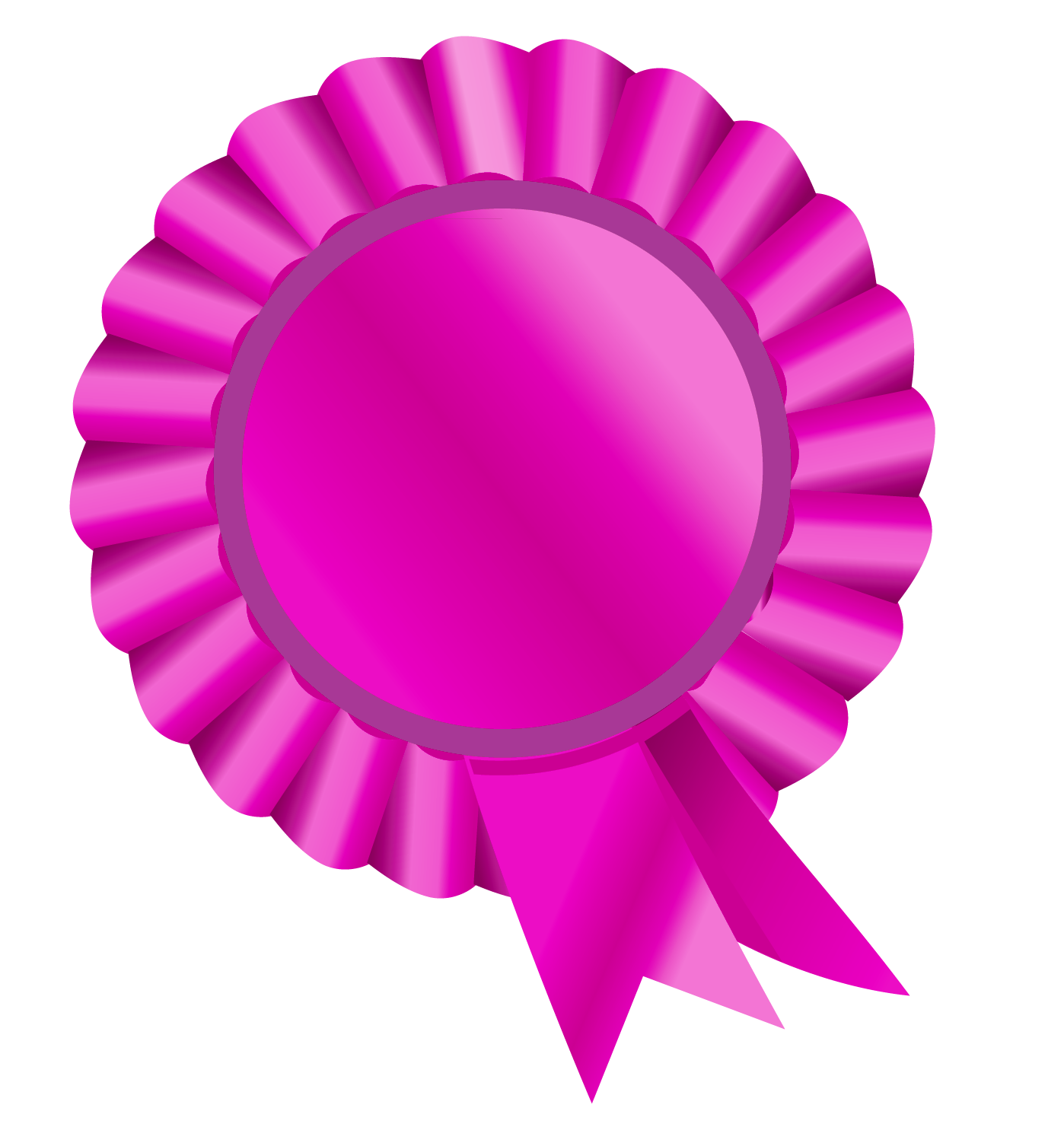 Rosette pink picture gallery. Circle clipart ribbon