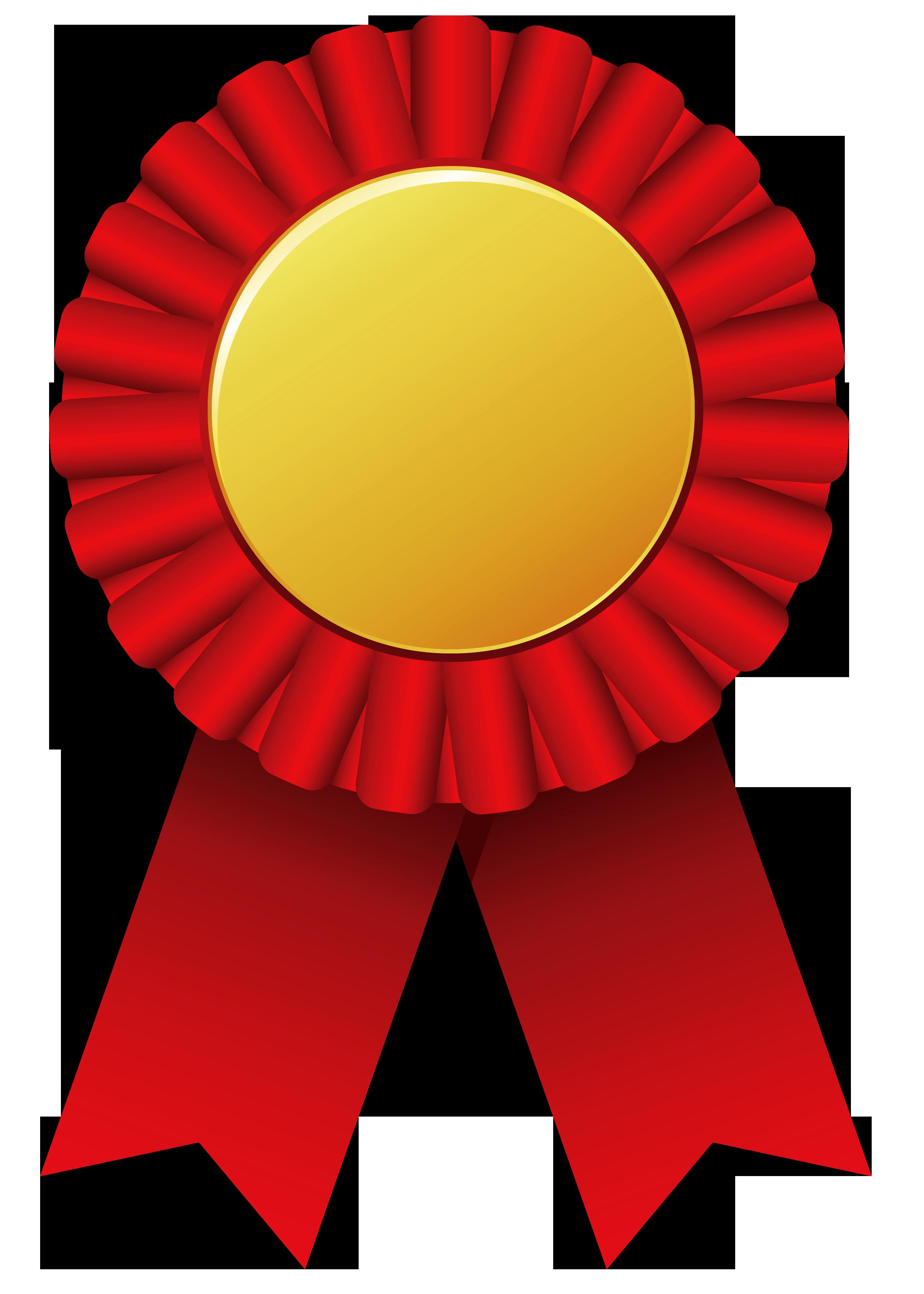 Circle clipart ribbon. Red rosette png clipar