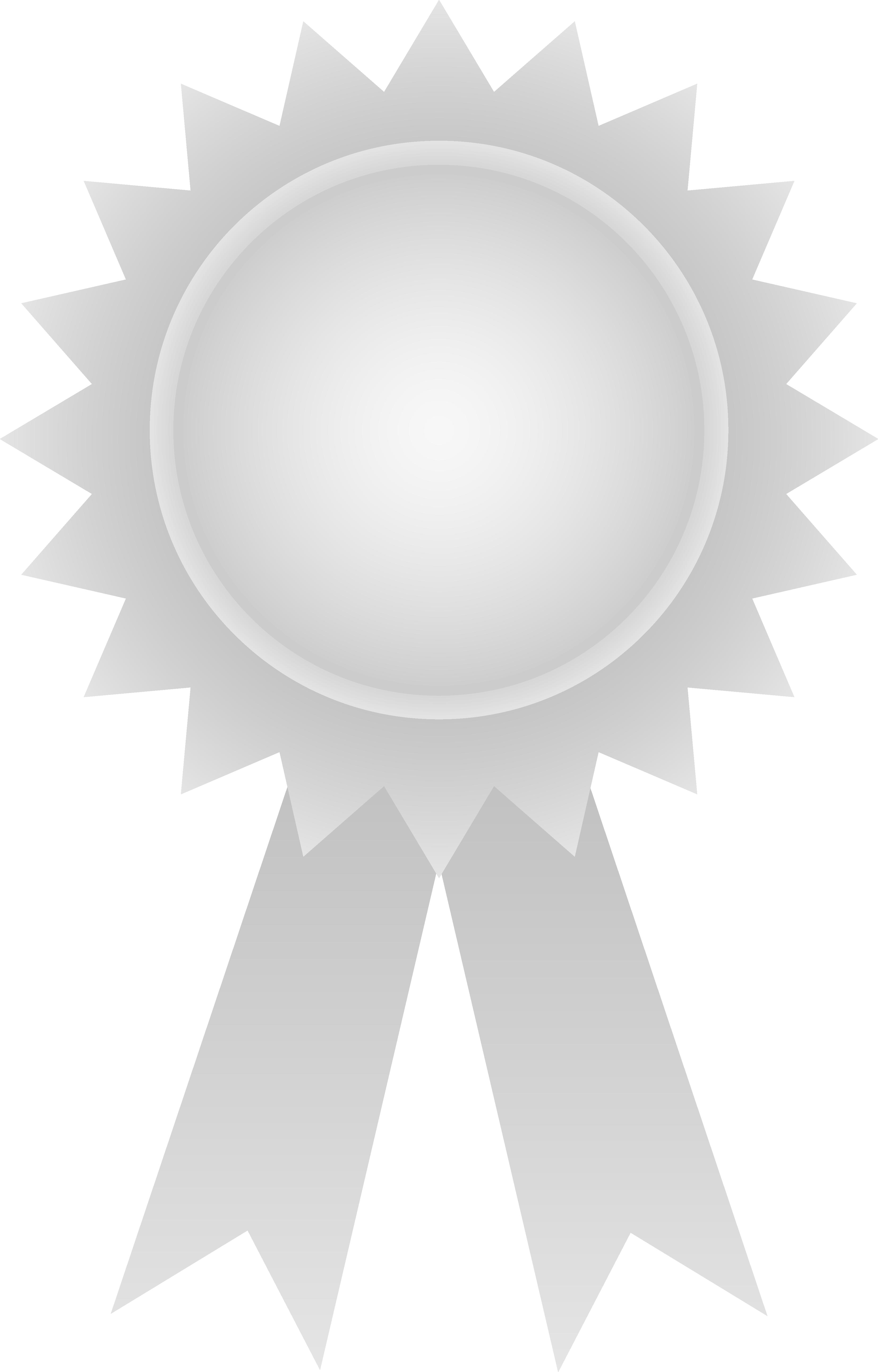 Clipart circle ribbon. Silver award free clip