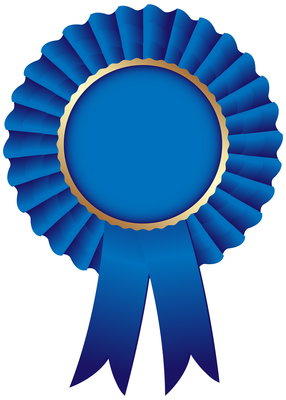 Blue rosette png clip. Circle clipart ribbon