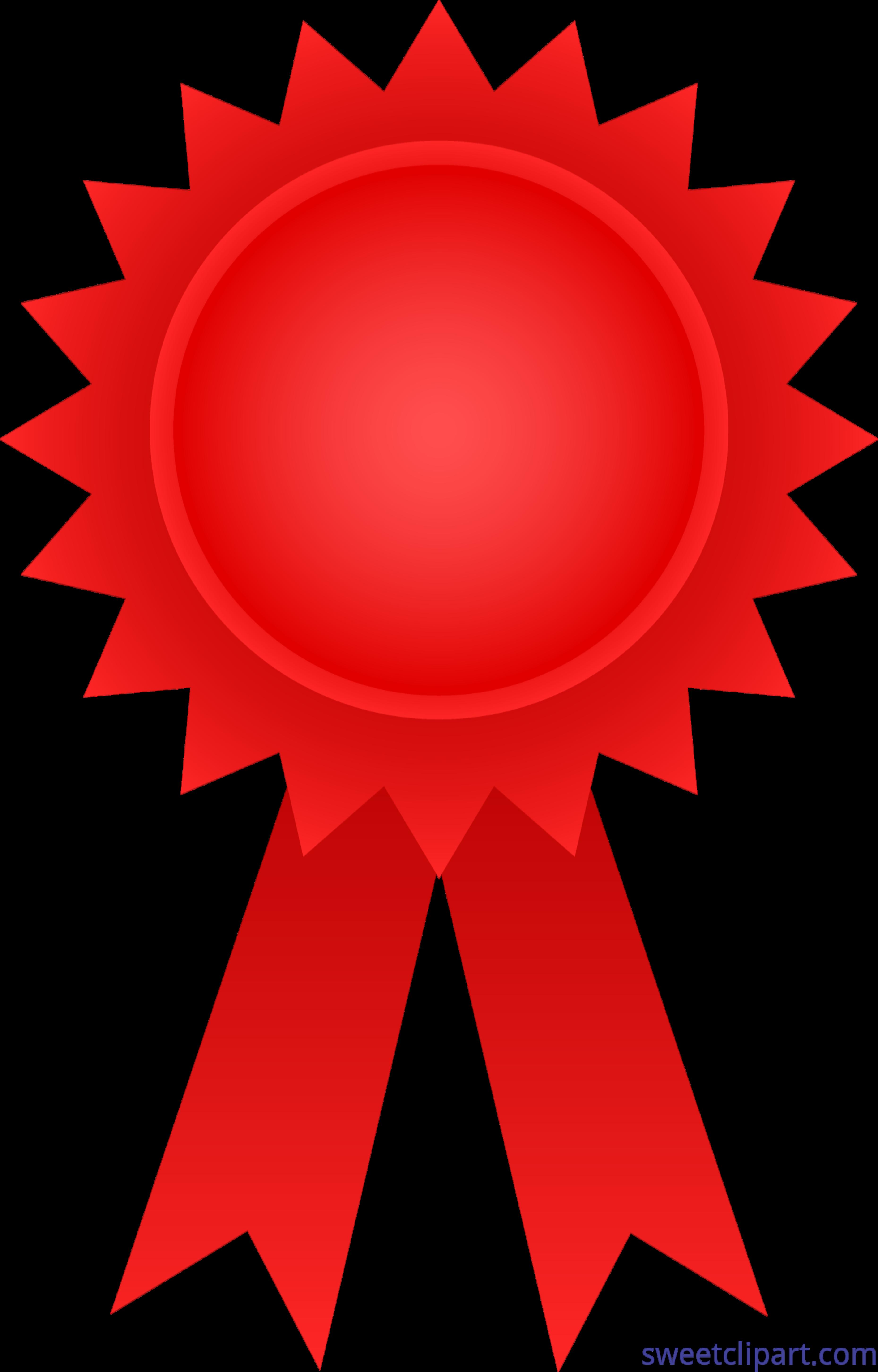 Circle clipart ribbon. Award red clip art