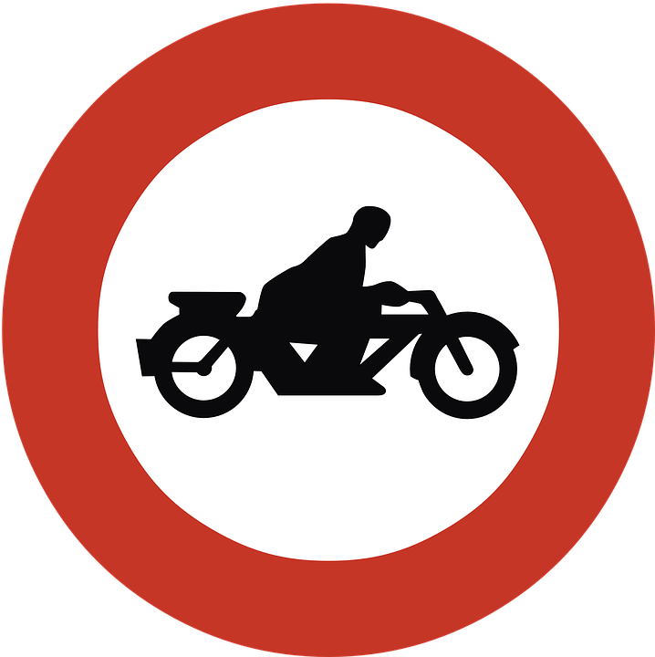 Circle clipart road. No motorcycles sign transparent