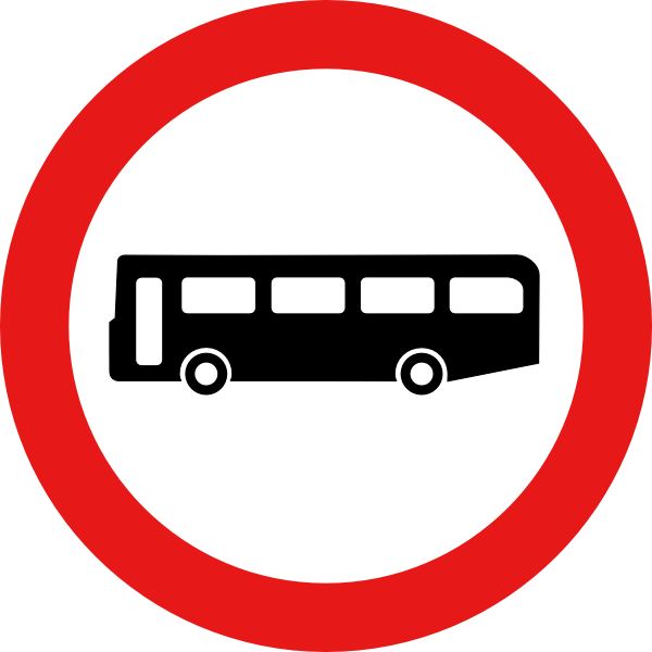 Bus sign clip art. Circle clipart road