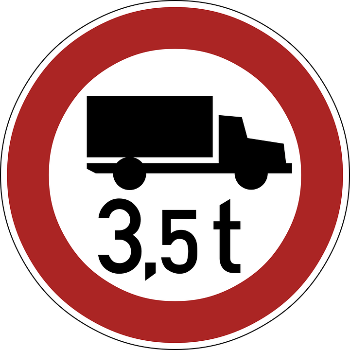 Circle clipart road.  t restriction truck