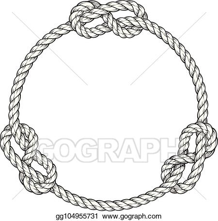 Vector art circle round. Knot clipart knotted rope