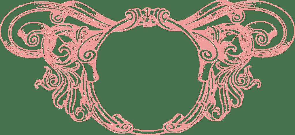 Circle clipart rose. Vintage frame transparent png
