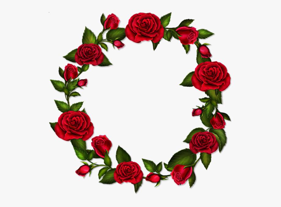 Transparent frame it pinterest. Clipart roses circle