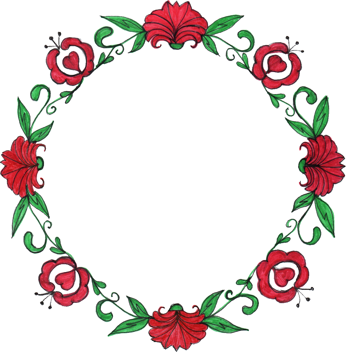 Flower drawing at getdrawings. Circle clipart rose