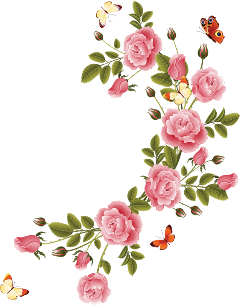 aa ce d. Flower borders png