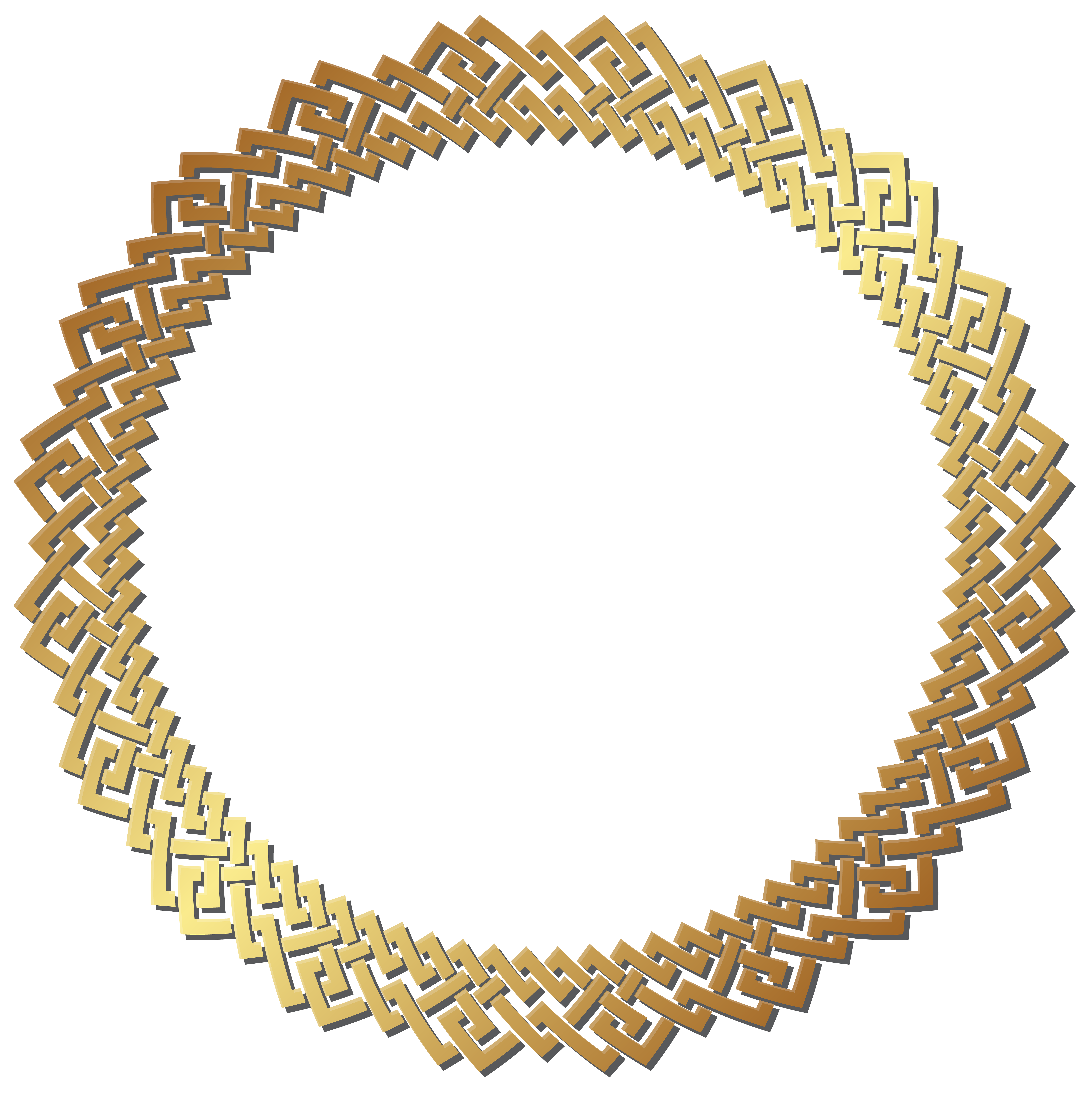 Round golden frame transparent. Heat clipart border