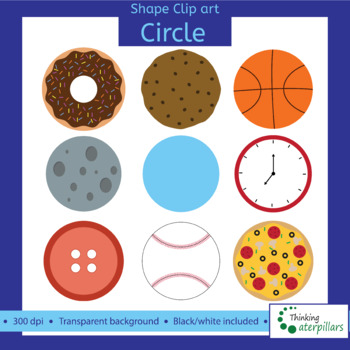 Circle clipart round shape. Objects d clip art