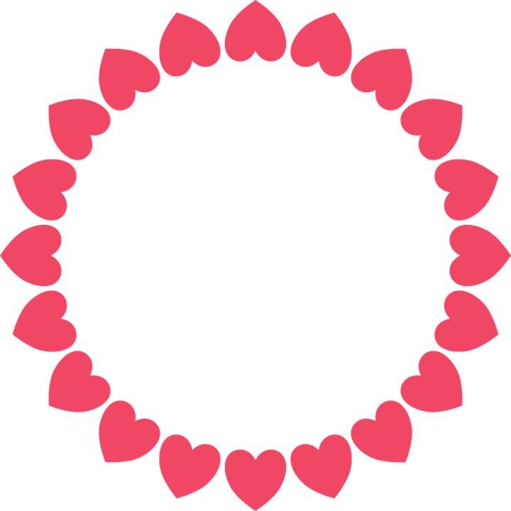 Circle clipart ruffle. Frilly group frame hearts