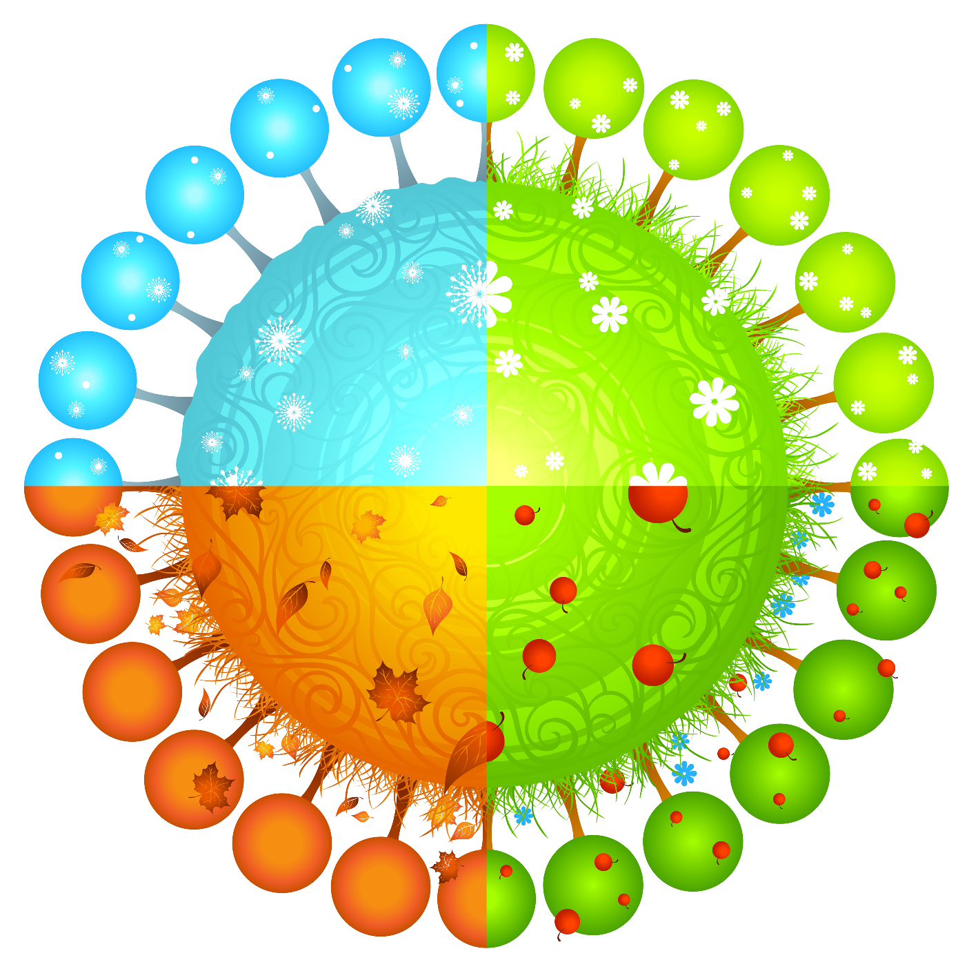 Circle clipart science. Seasons gateway to north