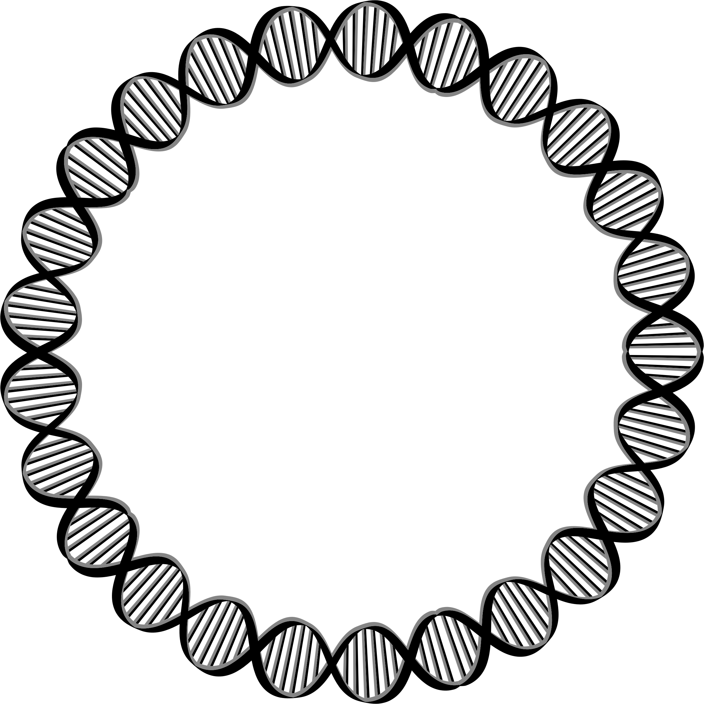 Dna large big image. Circle clipart science