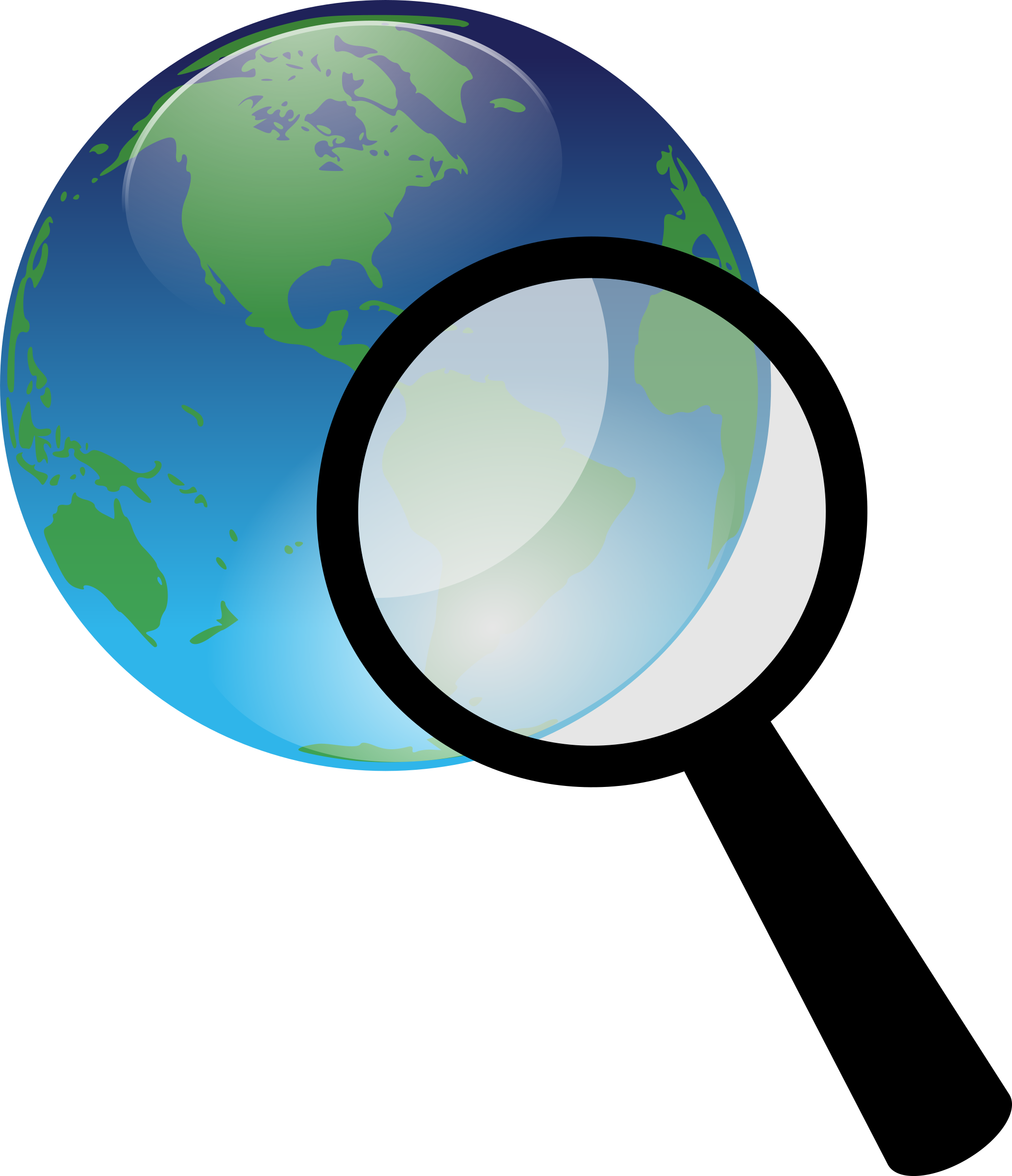 Clipart computer magnifying glass. Earth and magnify big
