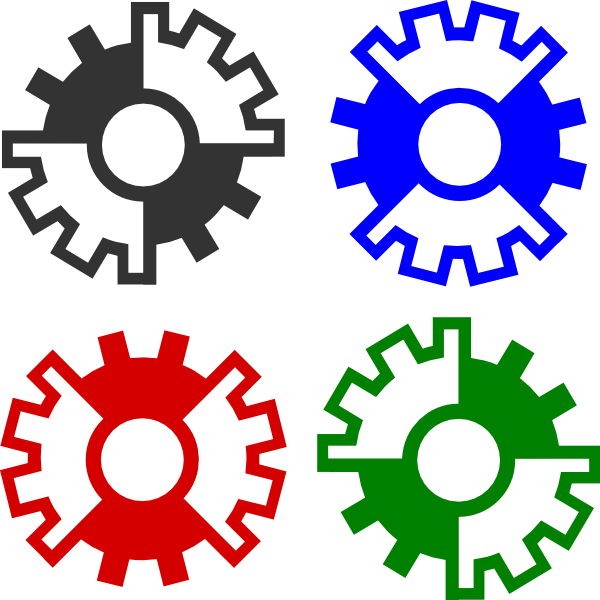 Circle clipart science. Gears clip art at