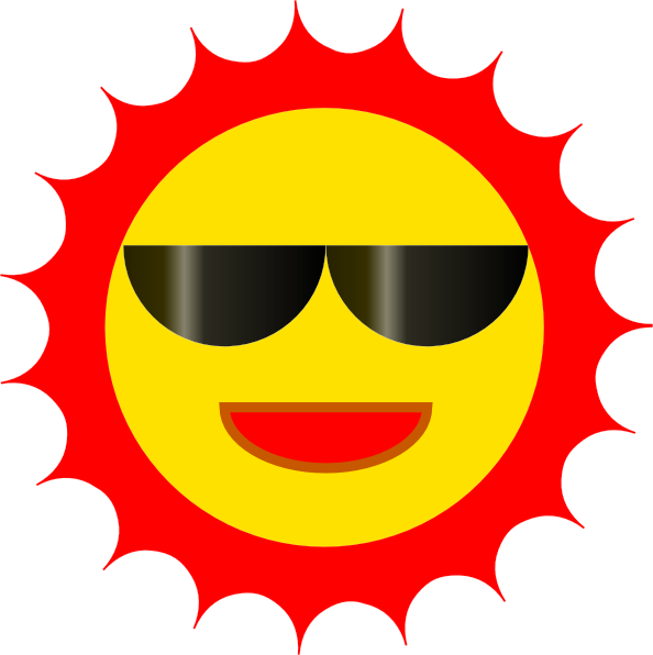 Sun Wearing Sunglasses Clip Art at Clker