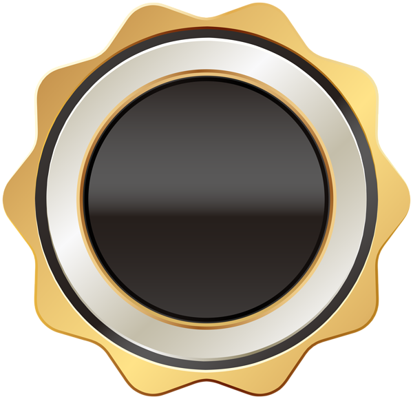 Circle clipart shades. Badge black gold png