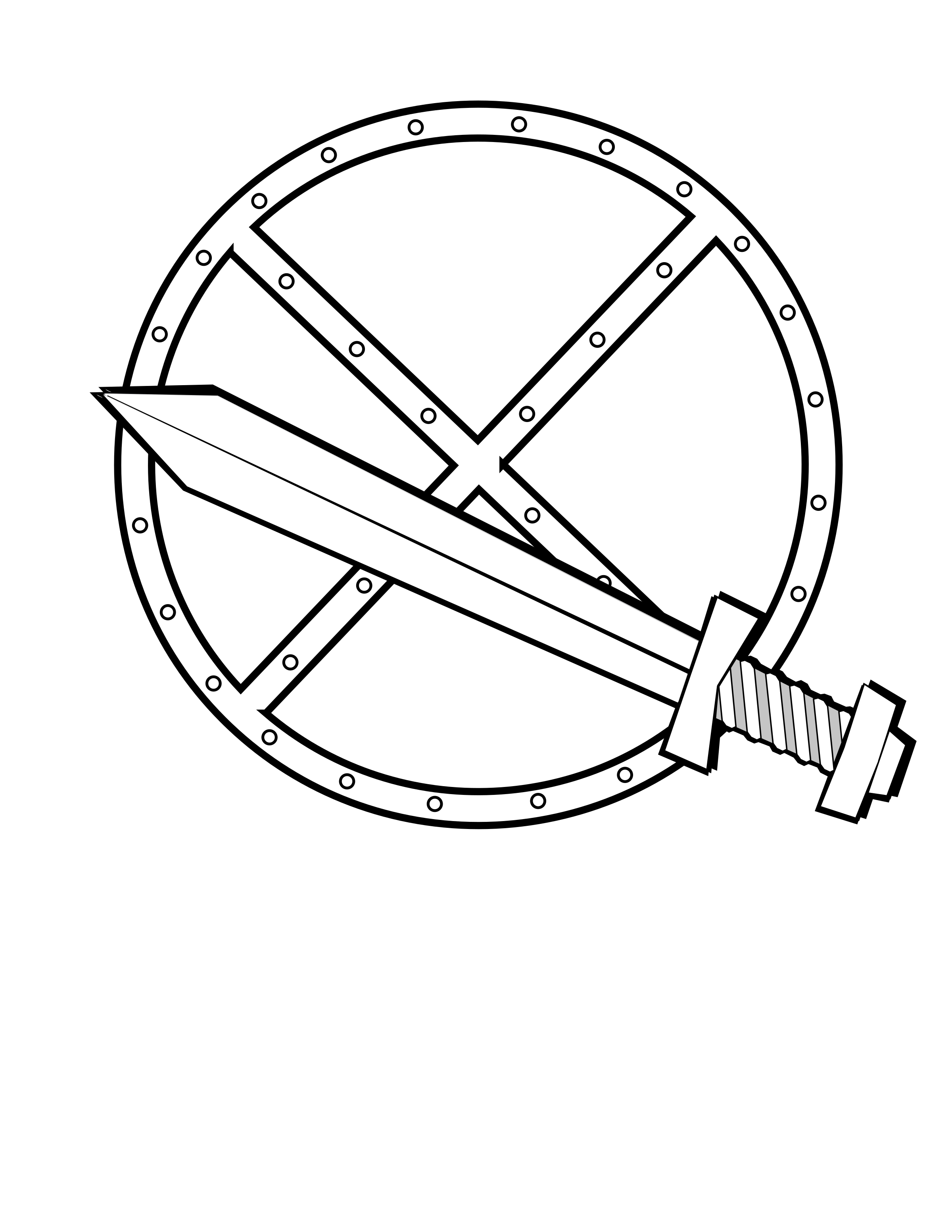 And shield big image. Clipart sword round