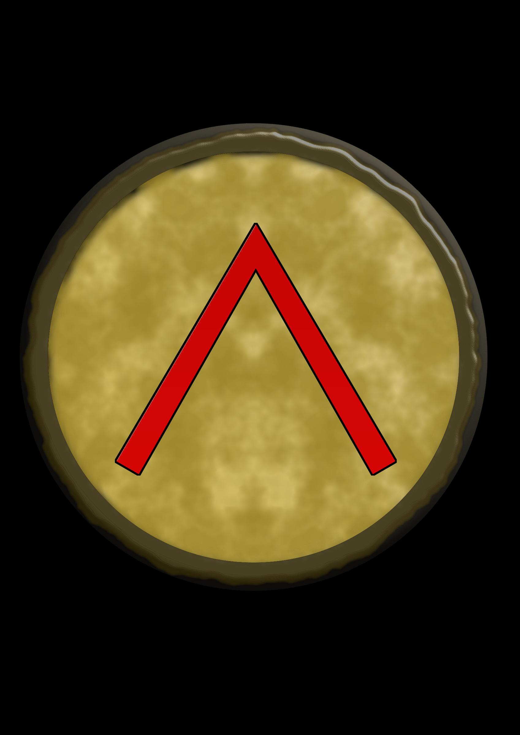 Spartan clipart logo spartan. Shield big image png