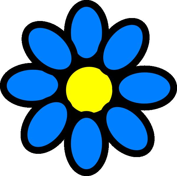 Circle clipart sky blue. Flower clip art at
