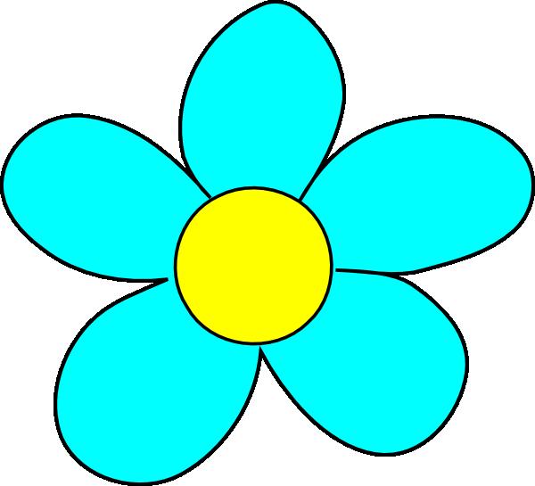 Flower clip art at. Circle clipart sky blue