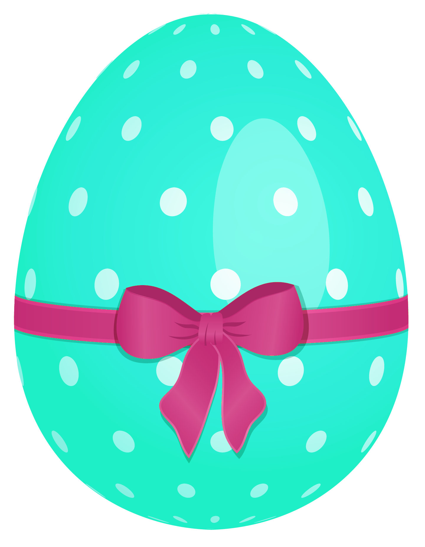 Sky blue with green. White clipart easter egg