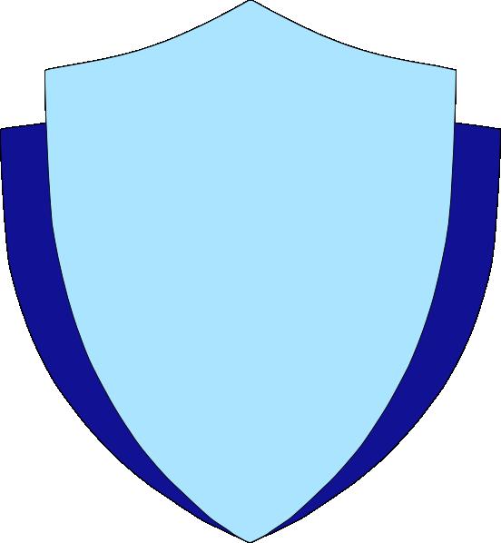Shield w flank clip. Circle clipart sky blue