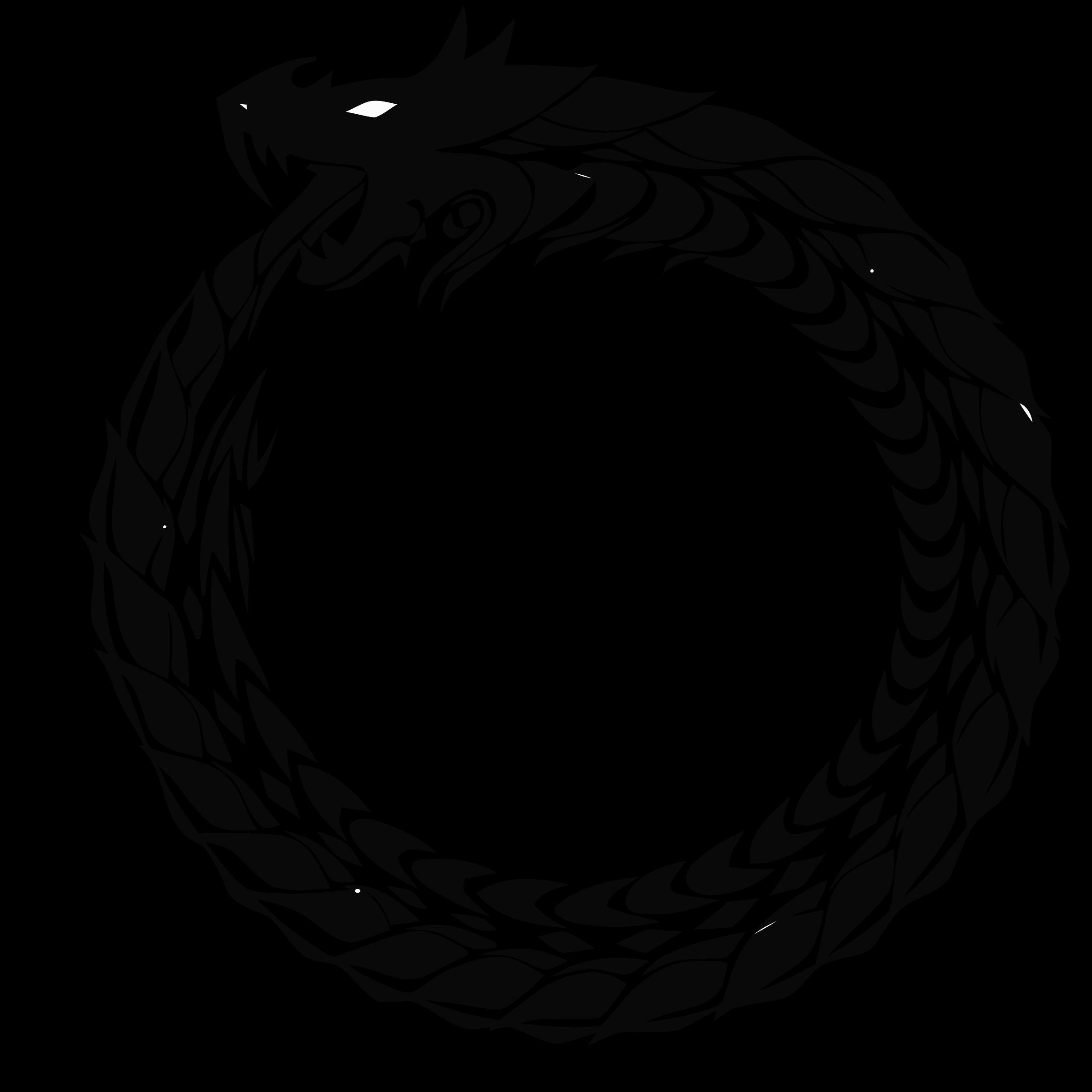Snake clipart dragon. Ouroboros