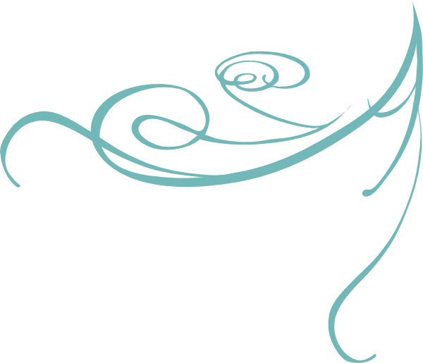 Blue decorative swirl clip. Lines clipart resume