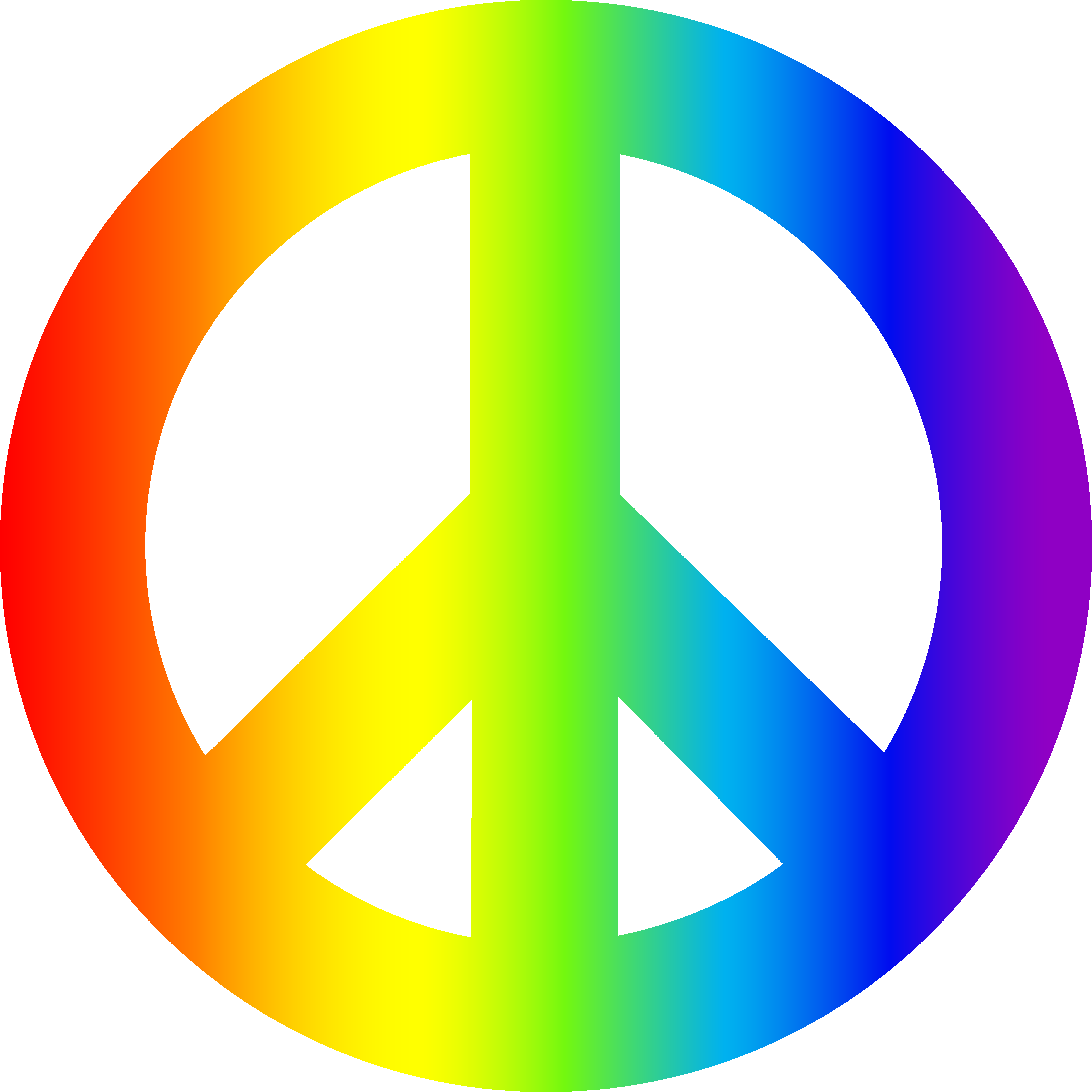 Peace clipart peaceful life. Colorful sign rainbow png