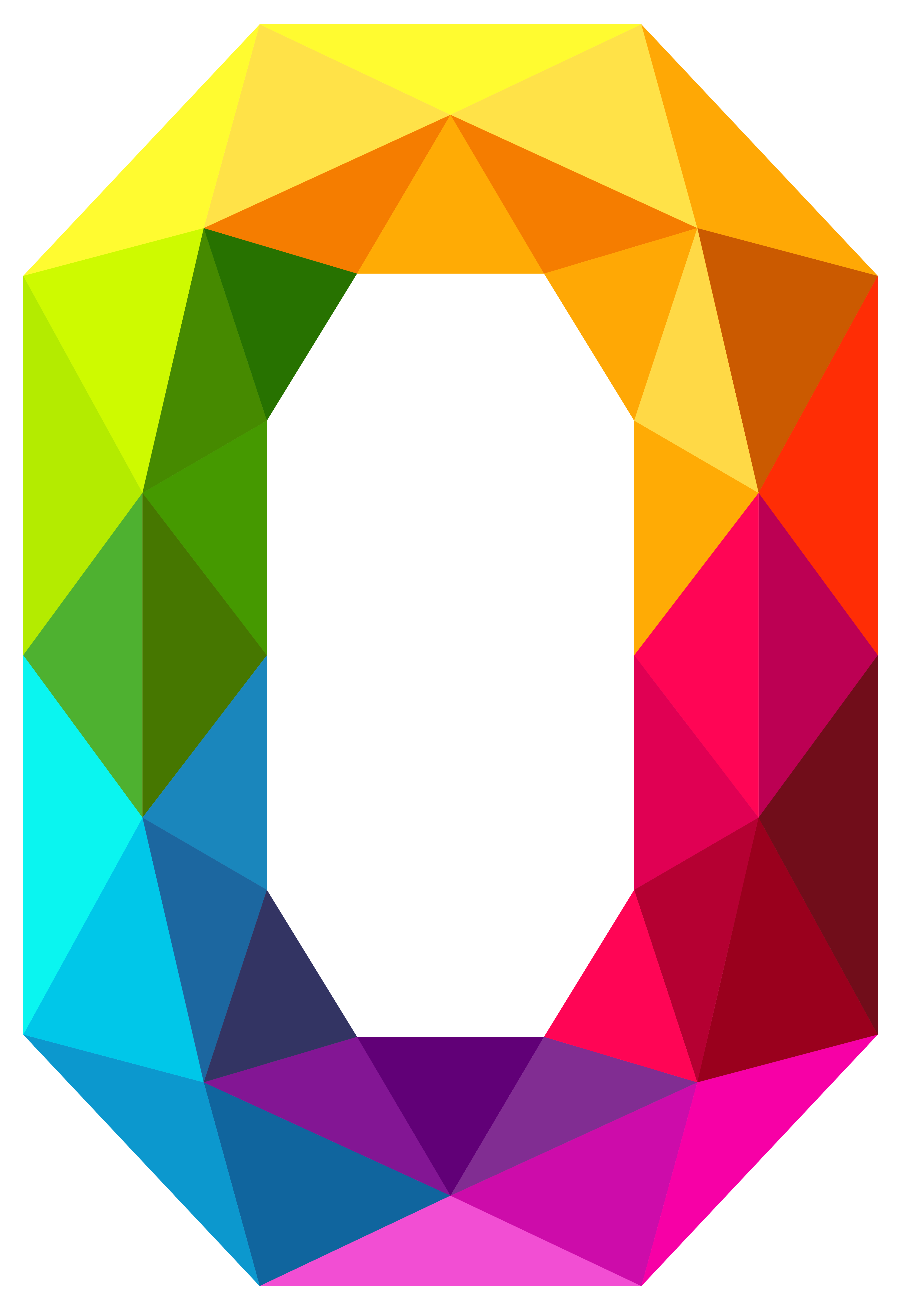 Colourful triangles number zero. Clipart umbrella triangular