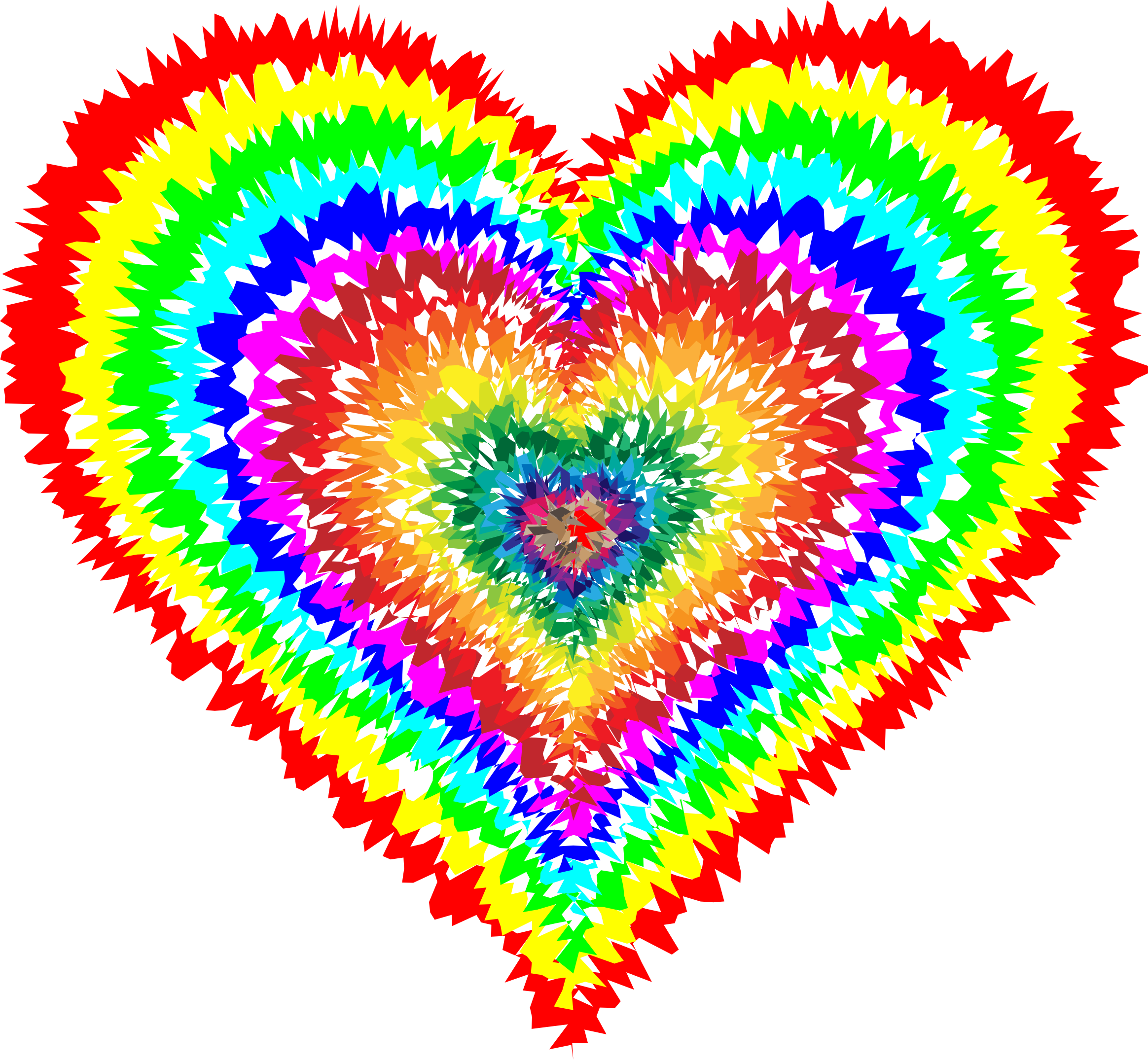 Heat clipart funky heart. Tie dye look at