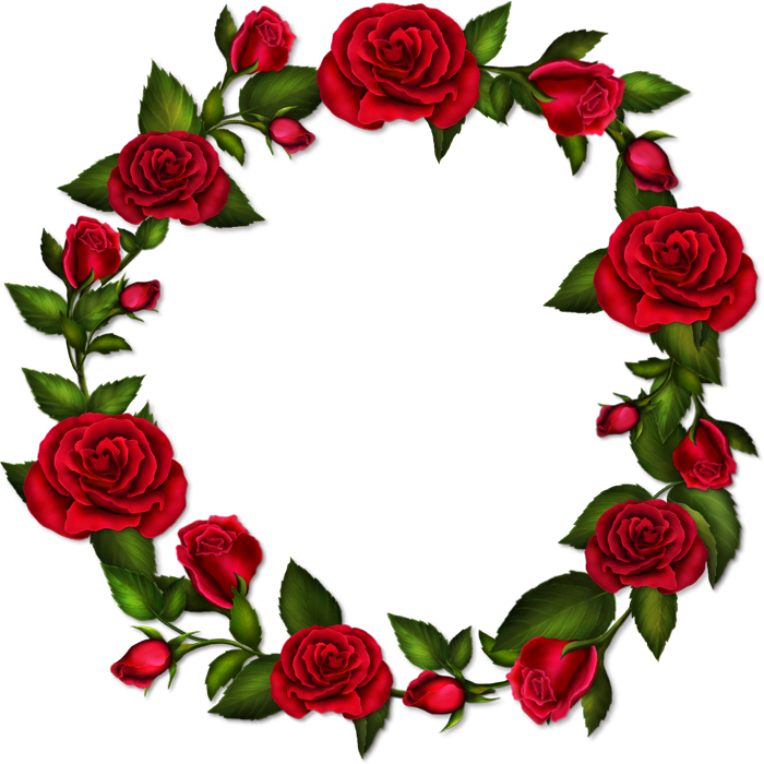 Rose frame png. Circle roses transparent gallery