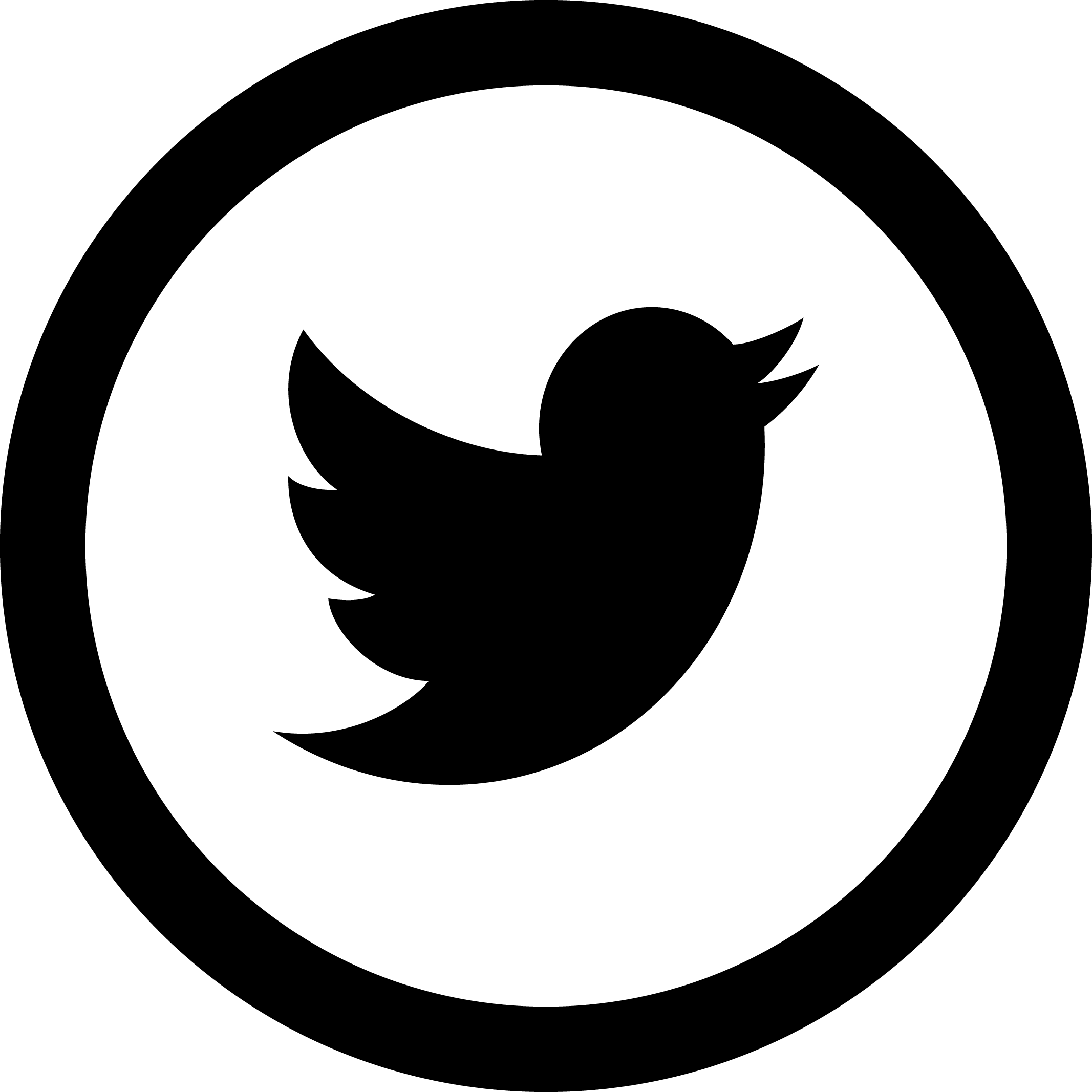 Twitter icon png. Simple logo in circle