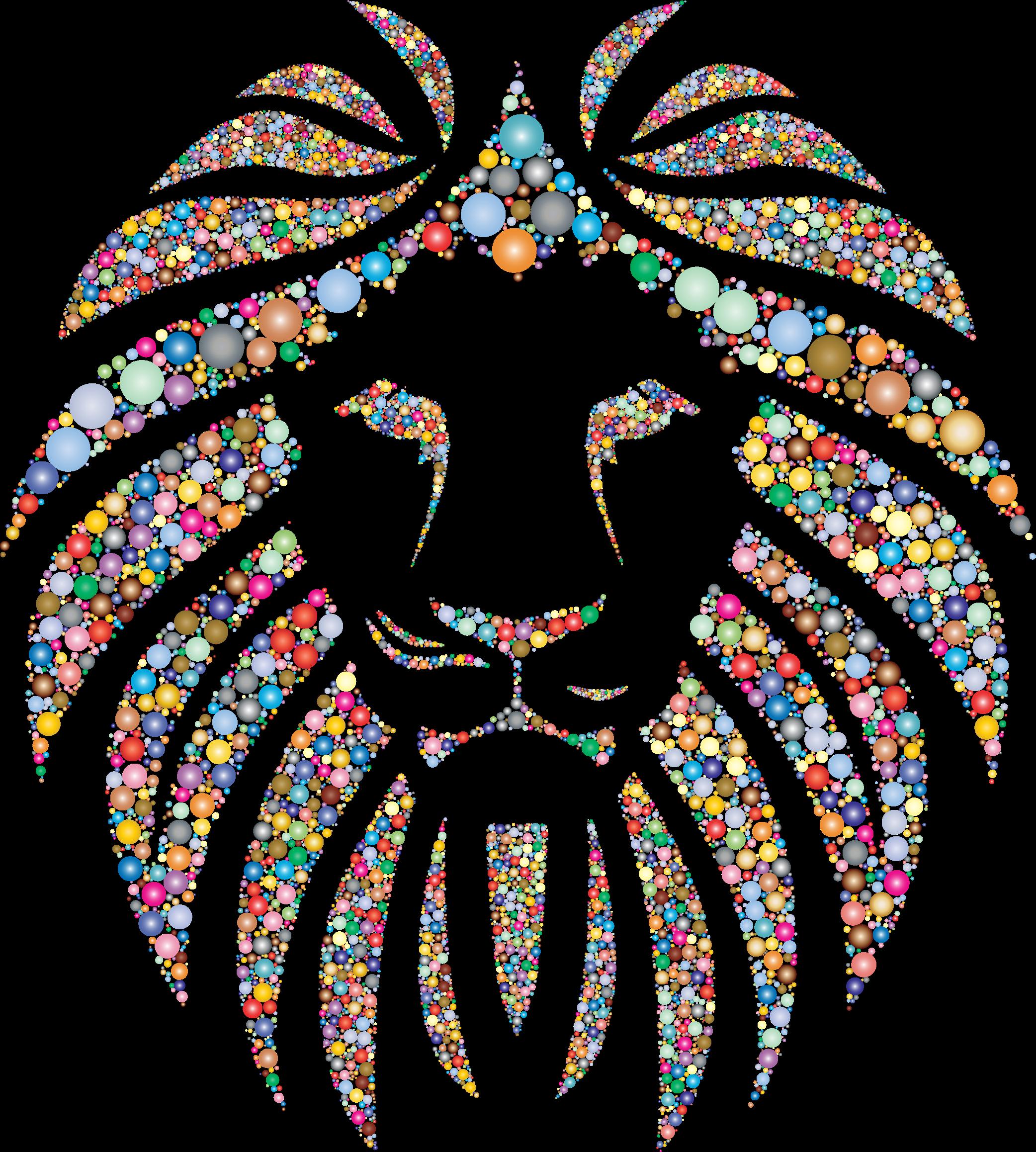 Circle clipart tribal. Colorful lion circles no