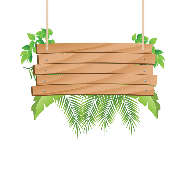 Wooden hanging with tropical. Win clipart wood