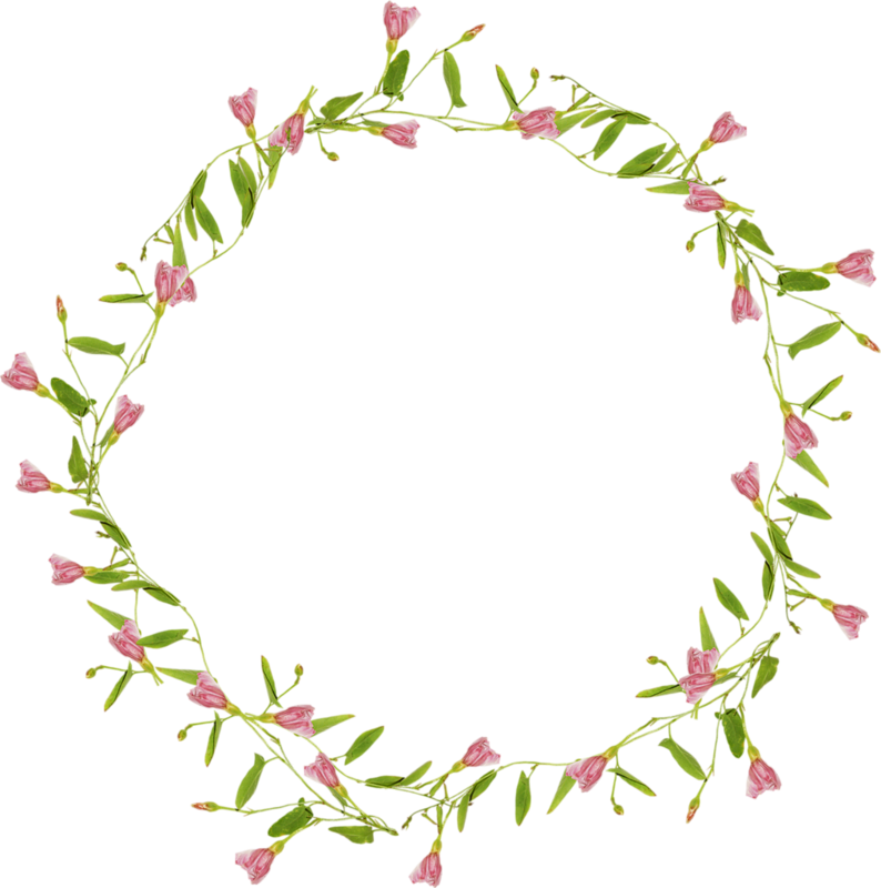 Circle clipart twig. Flower purple clip art