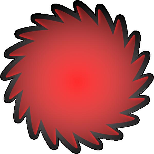 Clipart circle circle shape. Red clip art at