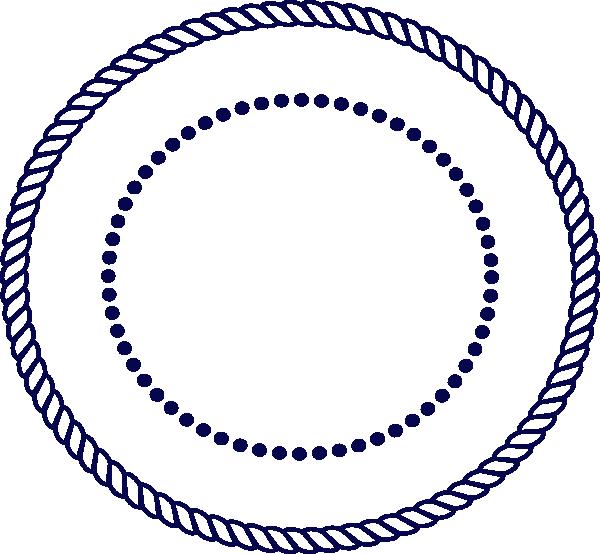 Rope border clip art. Clipart anchor circle