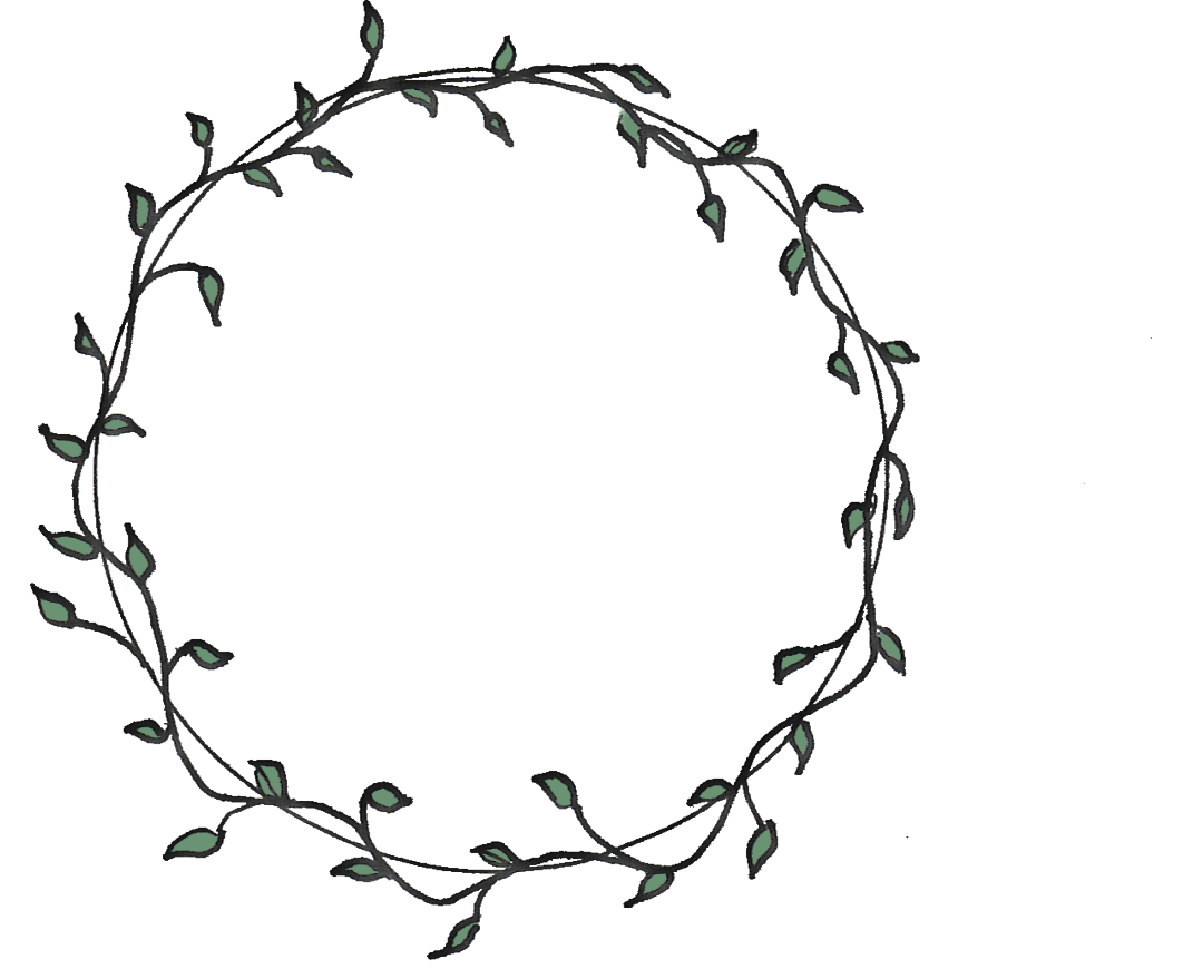 Circle clipart vine. Flower drawing at getdrawings