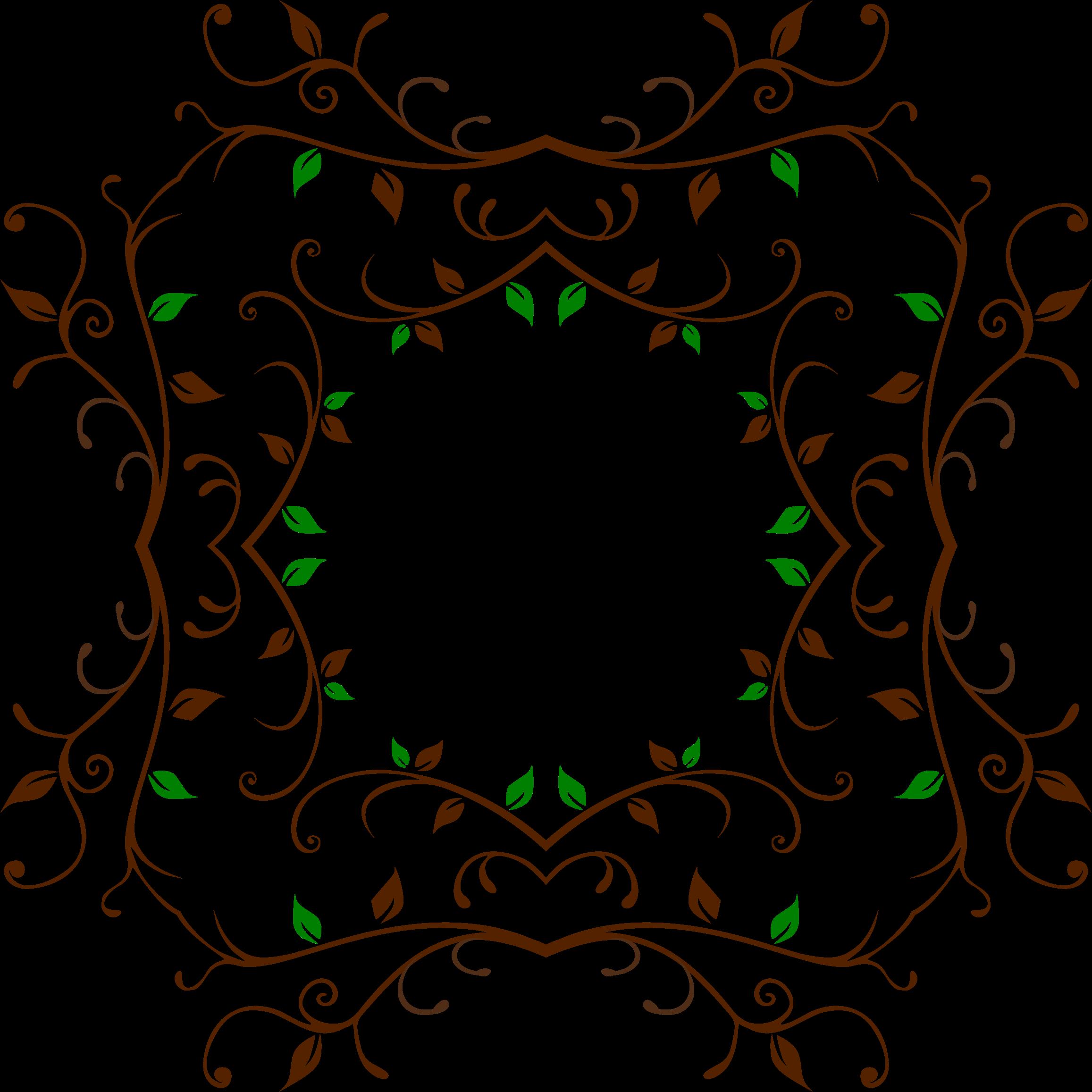 Vine frame png. Clipart leafy big image