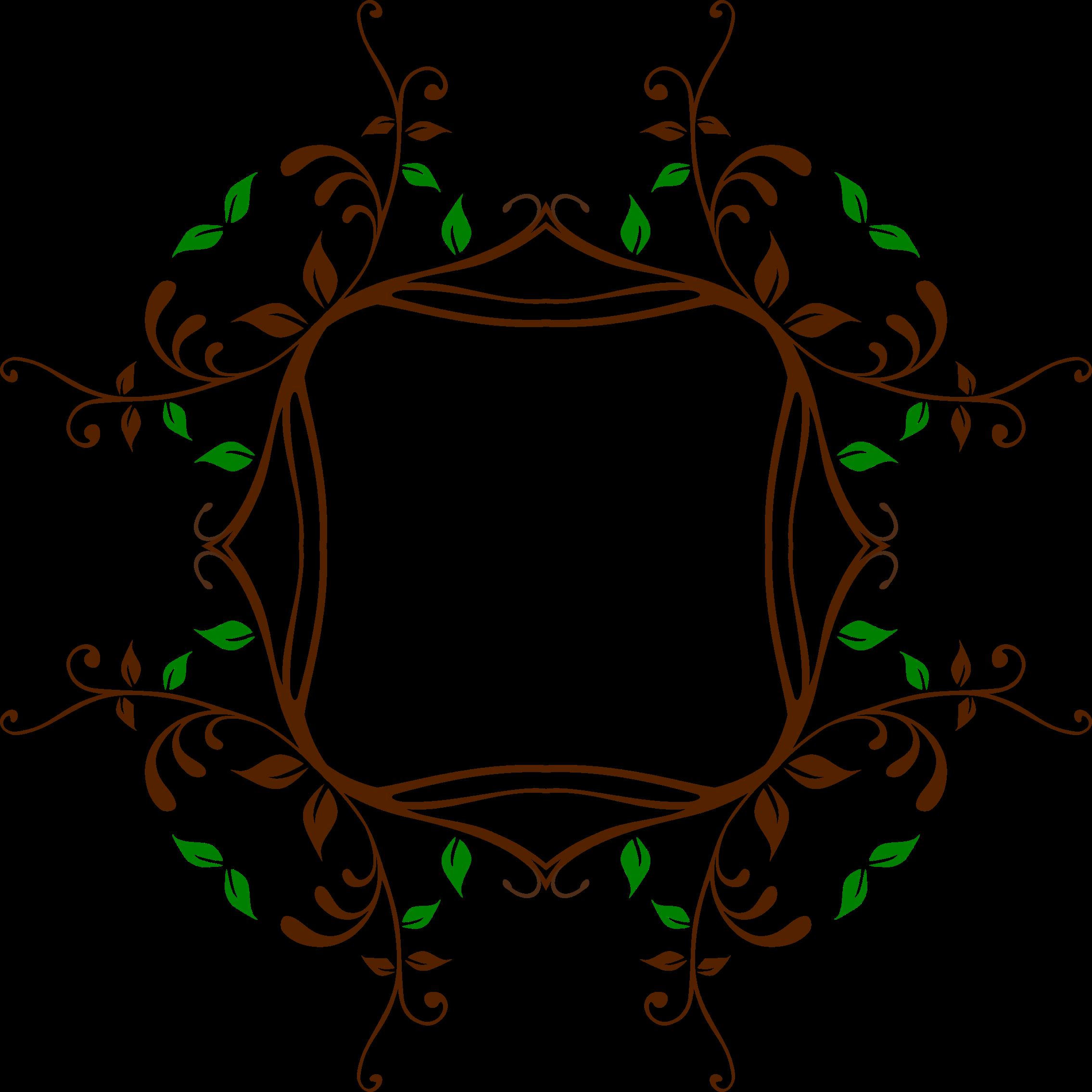 Circle clipart vine. Leafy frame big image