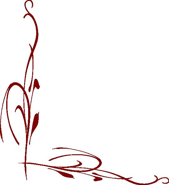 Maroon border clip art. Circle clipart vine