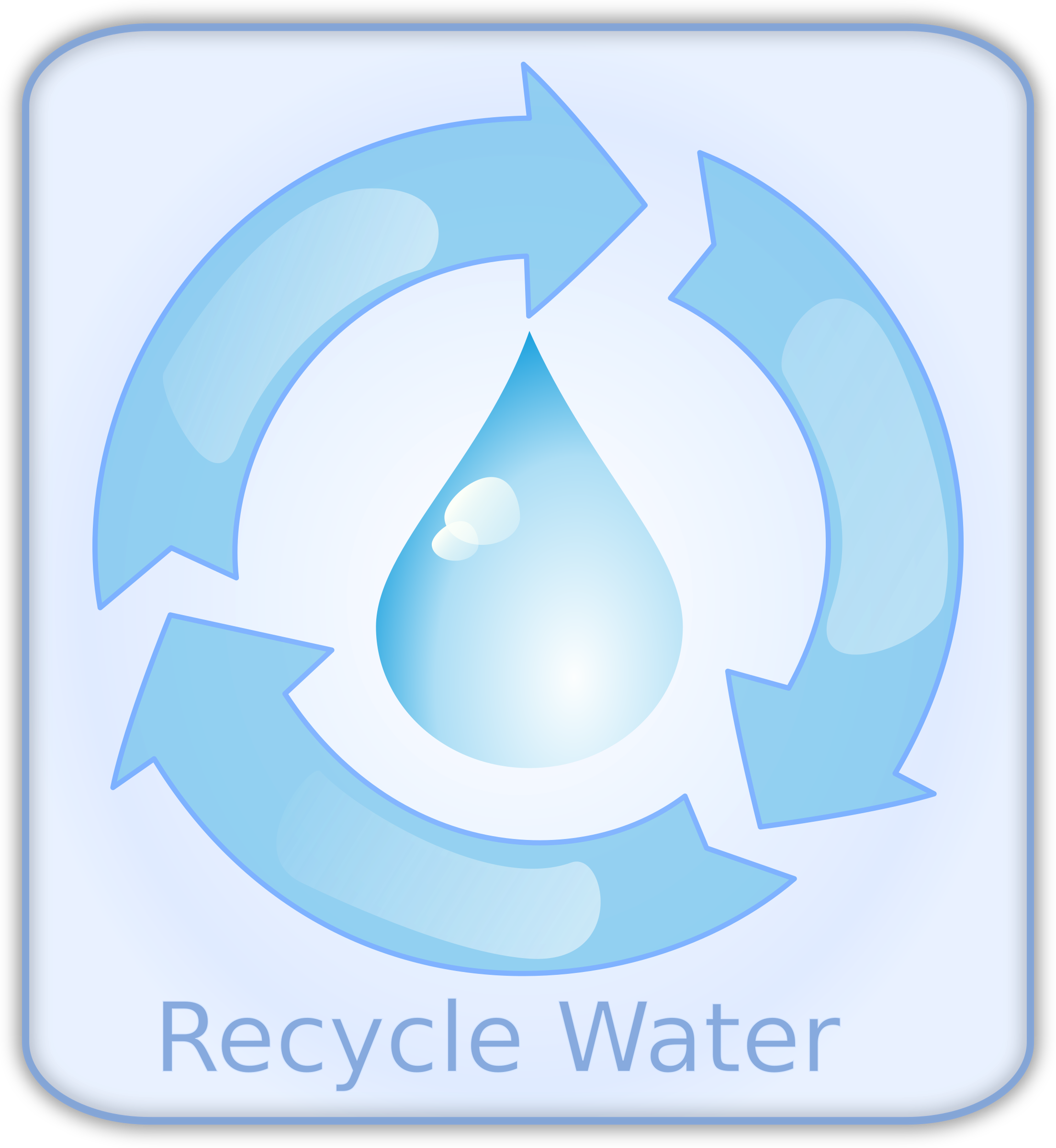Water clipart circle. Recycle big image png
