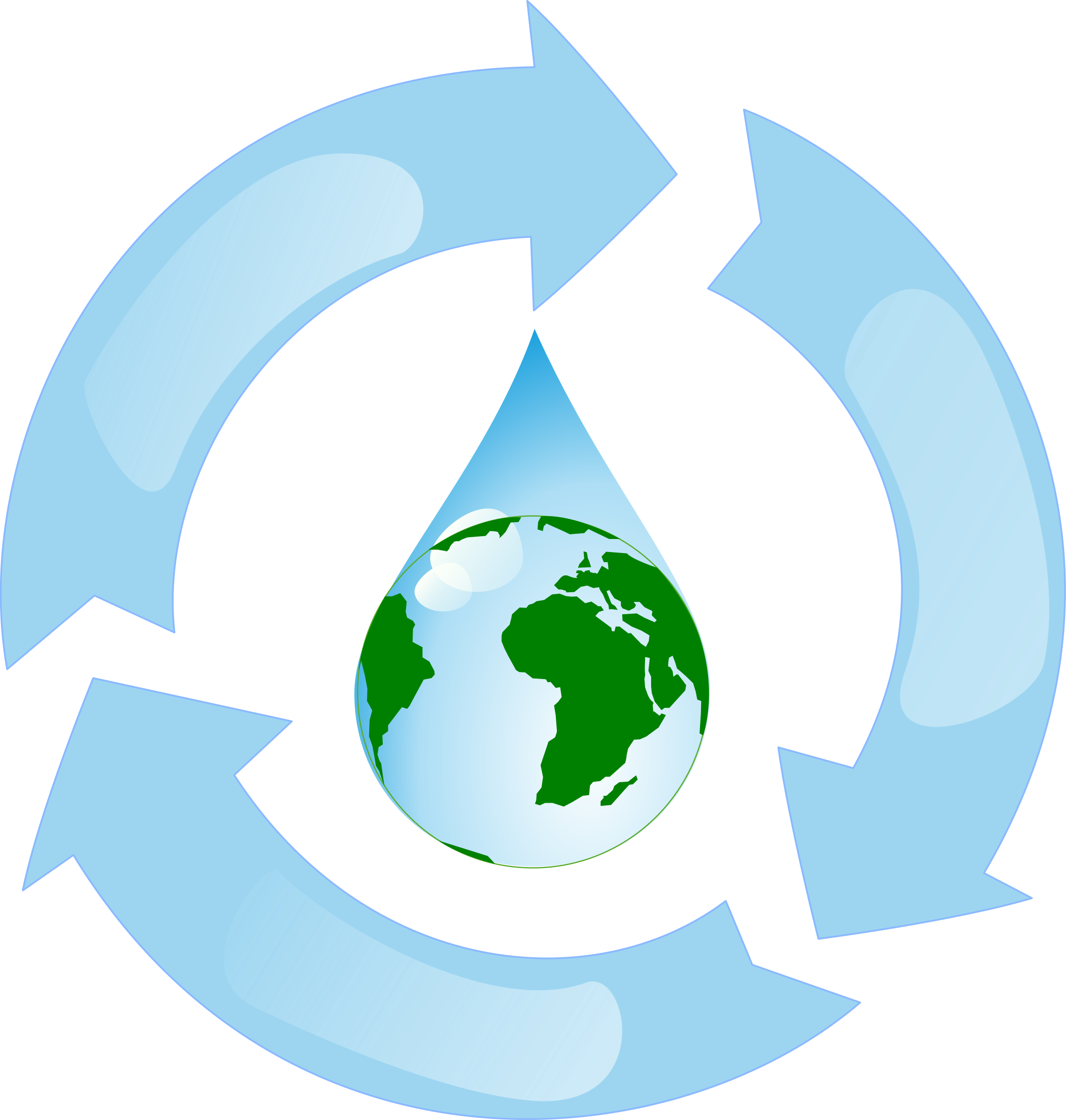 Water. Clipart earth recycling