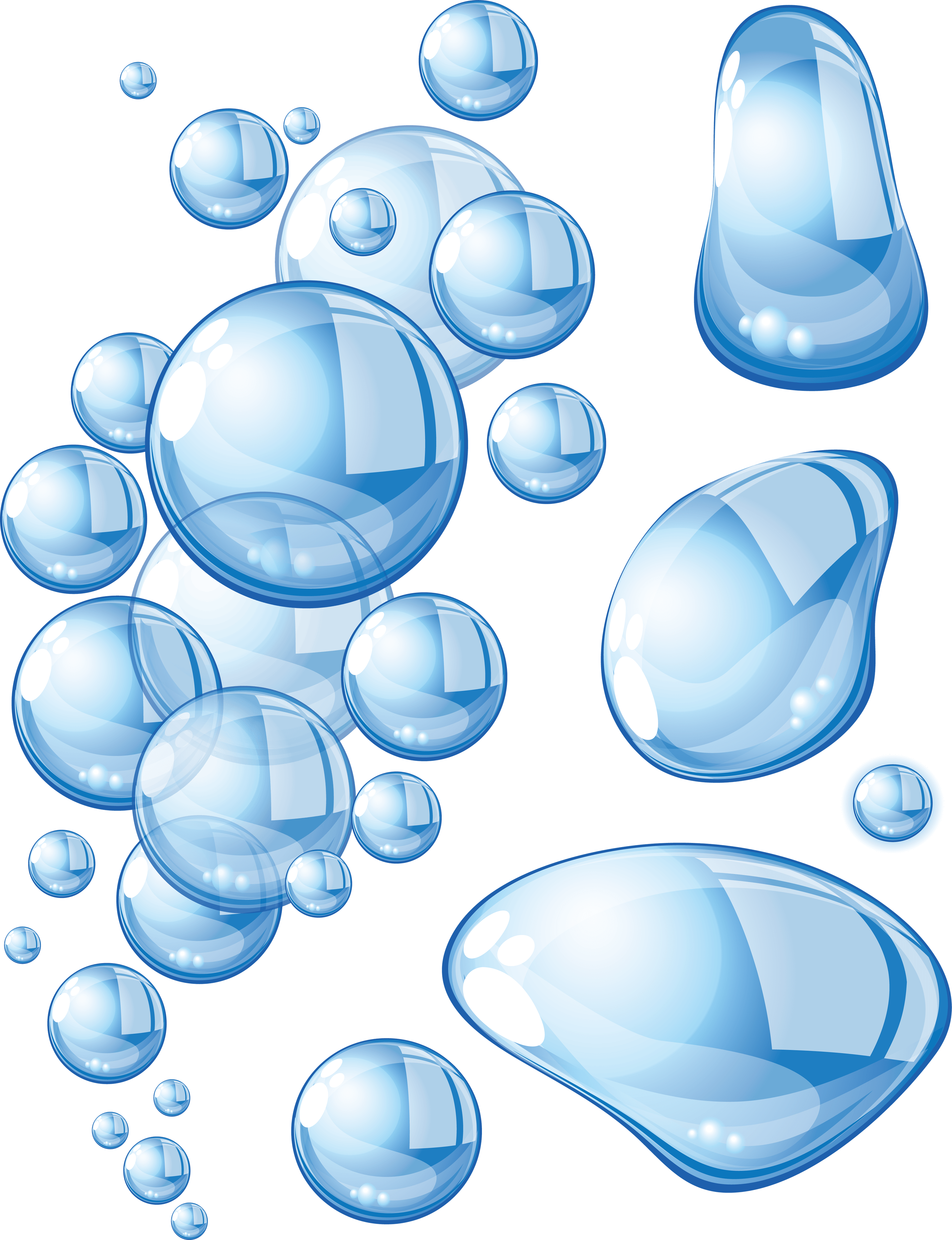 Large bubbles transparent png. Water clipart aqua
