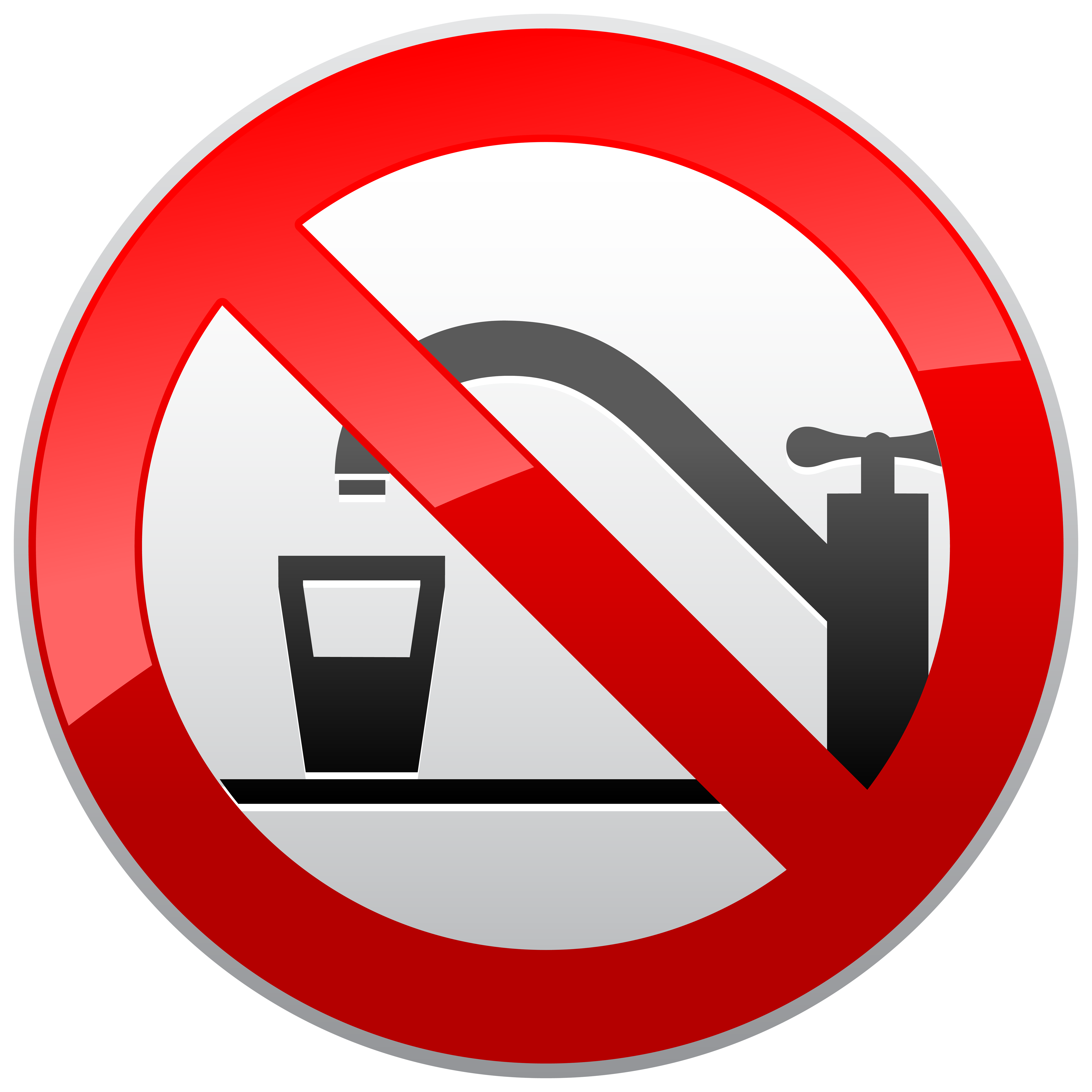 Planets clipart water. Not drinking prohibition sign