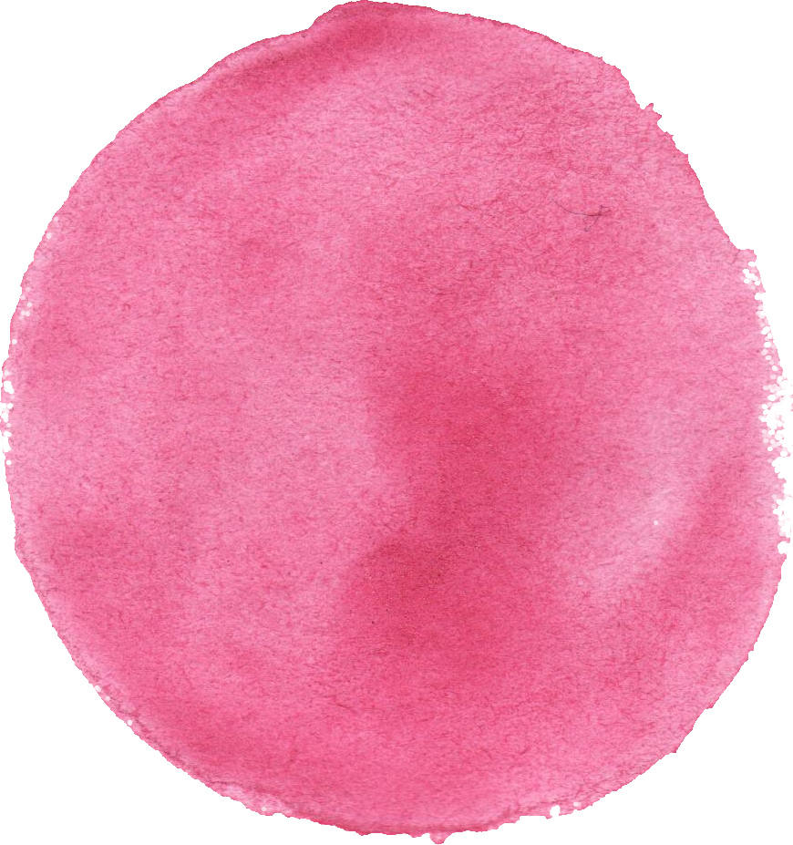 pink png transparent. Circle clipart watercolor